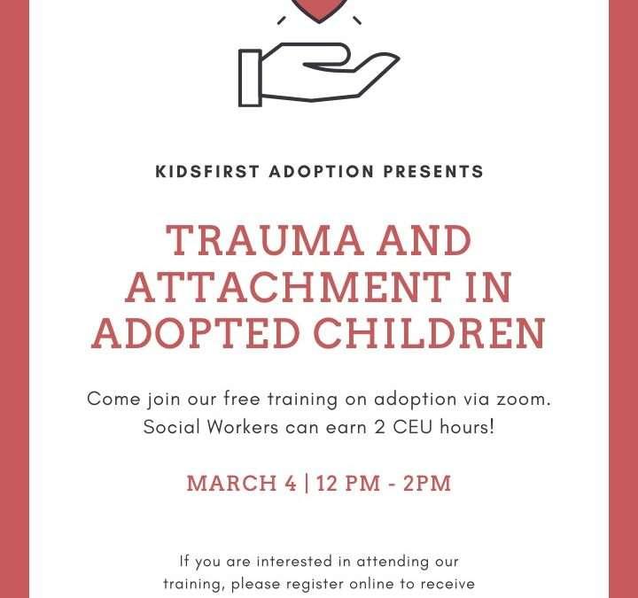 Class: Trauma & Attachment in Adopted Children
